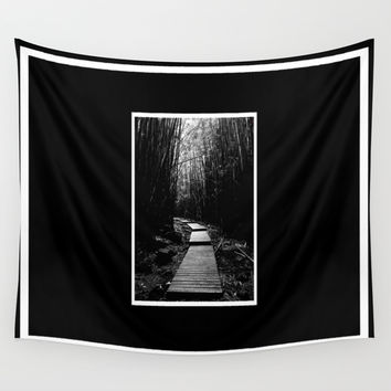 Bamboo Trail Wall Tapestry by Derek Delacroix
