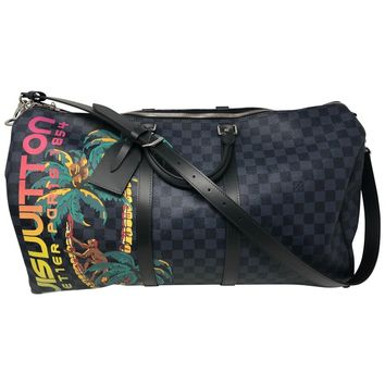 Louis Vuitton Damier Cobalt Jungle Keepall