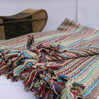 Handwoven Cotton Blanket Organic Blanket Natural Throw Couch Throw Twin Bed Cover EXPRESS SHiPPiNG Via UPS