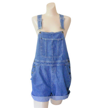 Women Denim Overall Shorts Denim Shortall Denim Bib Overall Shorts 90s Overall Blue Jean Overall Over All Dungaree Salopette Femme Blass