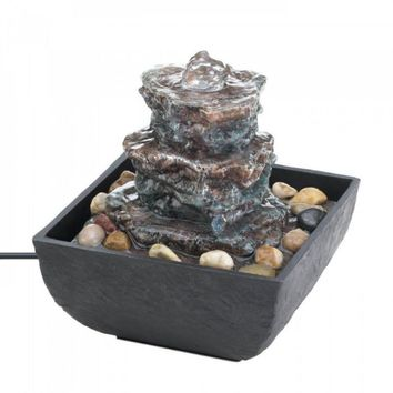 Rock Tower Tabletop Fountain