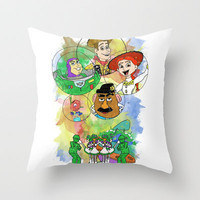Disney Pixar Play Parade - Toy Story Unit Throw Pillow by Joey Noble
