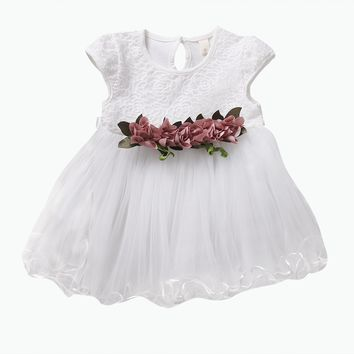 Lacey Tutu Dress with Embroidered Florals