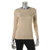 Style & Co. Womens Petites Heathered Long Sleeves Pullover Top