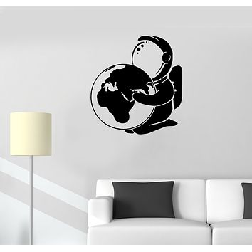 Wall Decal Astronaut Planet Earth Universe Space Vinyl Sticker (ed1332)
