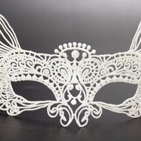 Chicloth Lace Cat Woman Dance Party Makeup Halloween Mask