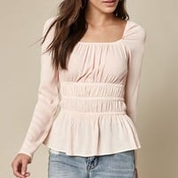 LA Hearts Cinched Waist Woven Top at PacSun.com