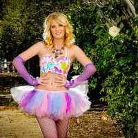 Adult tutu skirt , color run tutu, rave raver tutu, wedding, raver, edc, pink purple light blue,plur tutu, mini tutu