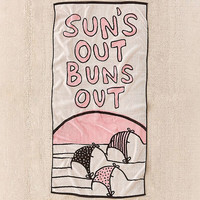 Calhoun & Co. Suns Out Buns Out Towel | Urban Outfitters