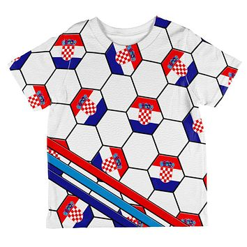 World Cup Croatia Soccer Ball All Over Toddler T Shirt