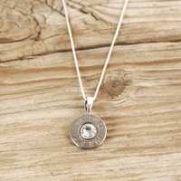 270 Nickel Bullet Head Sterling Necklace WIN-270-N-SBHN