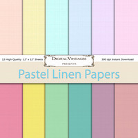 Linen Digital Paper, Instant Download, pastel digital paper, Digital Paper Pack, Scrapbook Paper, commercial use, Digital Background