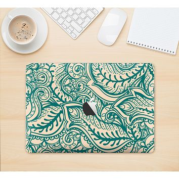 "The Delicate Green & Tan Floral Lace Skin Kit for the 12"" Apple MacBook"