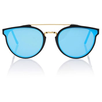 Light Blue and Gold Frame Sunglasses by Retrosuperfuture