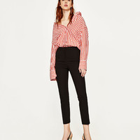 HIGH WAIST SKINNY TROUSERS DETAILS
