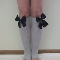 Leg warmers // High Knee Socks, Bow sock, knee socks,boot socks -Women Leg Warmers,Leg Warmers,Legwarmers