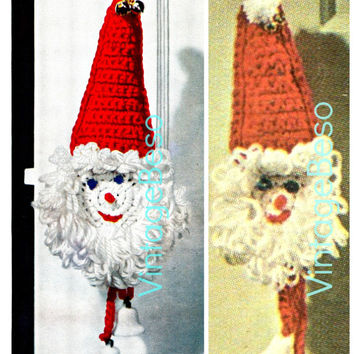 Santa Door Knob Cover Crochet Pattern Santa Crochet Pattern 1960s Gift Decoration Vintage Beso Crochet Pattern Instant Download PDF