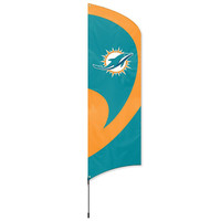 Miami Dolphins NFL Applique & Embroidered Tall Team Flag (102x30)