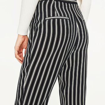 STRIPED TROUSERS - NEW IN-WOMAN | ZARA United States