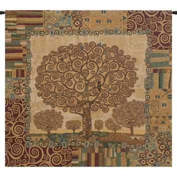 Klimts Tree of Life Tapestry Wall Art Hanging 72