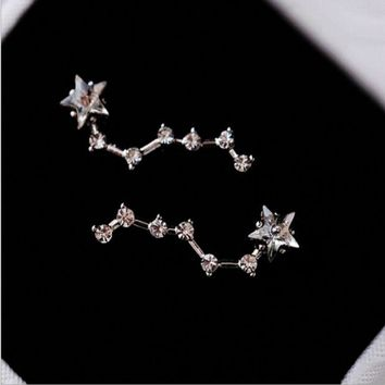 ONETOW Beidou Star crystal small stud earrings