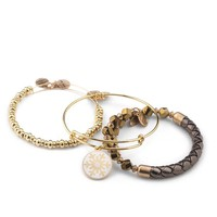 Triad Of Textures Bangle Stack