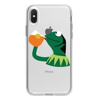 SIPPING KERMIT CUSTOM IPHONE CASE