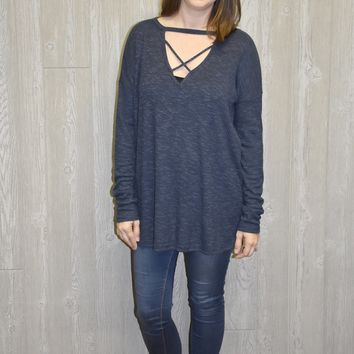 Marley Ribbed Criss Cross Sweater