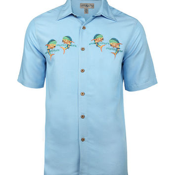 Men's Let's Dance Embroidered Fishing Shirt