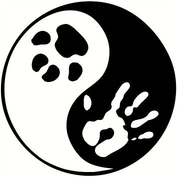 14*14CM Yin Yang Pet Cat Paw Print Car Window Decal Classic Decorative Stickers