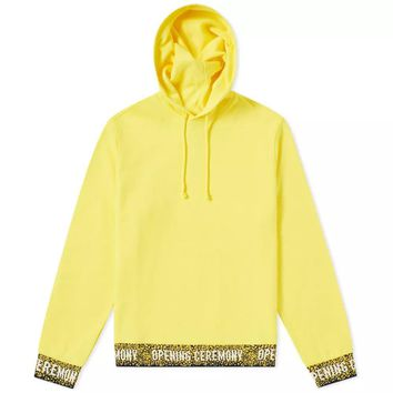Yellow Elasticated Hoodie by Opening Ceremony