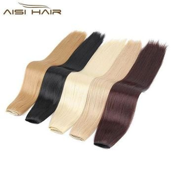 ESB1ON I's a wig 24' 16 Colors Silky Straight High Temperature Fiber Synthetic Clip in Hair Extensions for Women