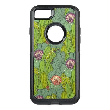 Cactus Flower Pattern OtterBox Commuter iPhone 7 Case