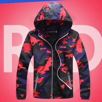 New Lover Jacket Hip Hop Man and Women Casual Coat Hooded Camouflage colours Student Uniform 2018 Spring Autumn Outerwear
