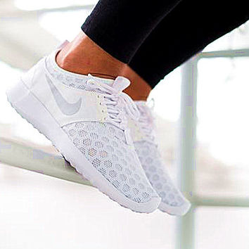 """Nike"" Fashion Women Sport Shoes Casual Sneakers honeycomb white"