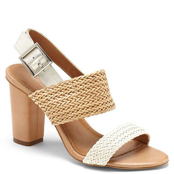 Arturo Chiang Glenda Woven Leather Colorblock Sandals