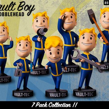 Original Gaming Heads Fallout 4 Vault Boy Bobbleheads Series 1 PVC Action Figure with box Kids Toy Christmas Gifts