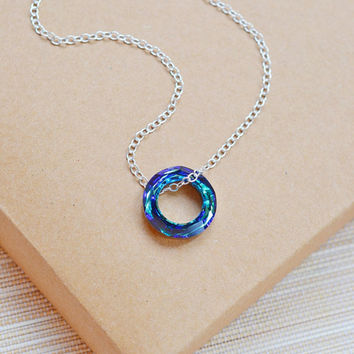 Shop Swarovski Crystal Circle Pendant on Wanelo c1c81d2d9b