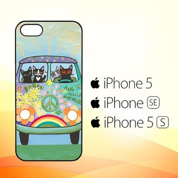 Hippie Cats Road Trip! L2171  iPhone 5|5S|SE Case