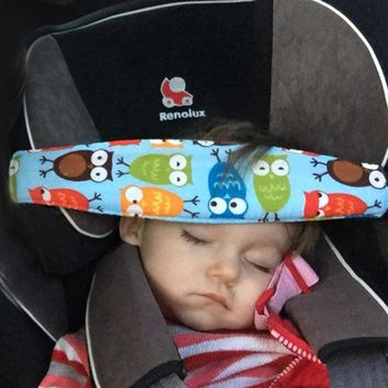 Bady Sleeping Head Support Pad Car Seat Headrest Strap Adjustable Child Safety Chair Belt Head Cover For Kids Baby seat parts