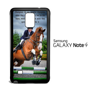 horse jumping photography Y2410 Samsung Galaxy Note 4 Case