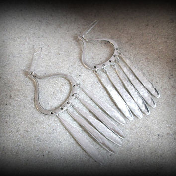 SilverFeather earring-spike dangle earring-tribal earring-gypsy earring-ethnic earring-boho earring-afghan jewellery-long earring
