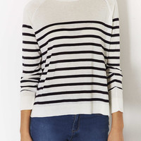 Knitted Breton Stripe Top - Knitwear - Clothing - Topshop USA