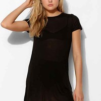 Project Social T Sheer Tunic Tee- Black