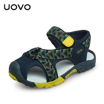 Little And Big Boys Beach Sandals UOVO New Design Children Closed Toe Sandals High Quality 2018 Fashion Summer  Sandals #25-35