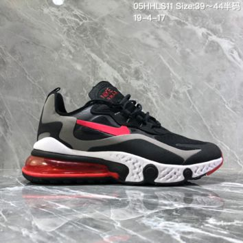 hcxx N1285 Nike asymmetrical color 2019 new sneakers air cushion casual running shoes Black Gray Pink