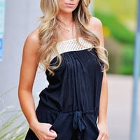 Elan Summer Fun Romper - Black