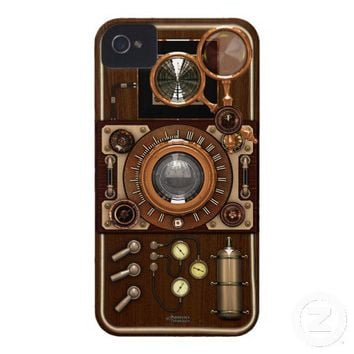 Vintage Steampunk TLR Camera iPhone 4 Case-Mate Cases from Zazzle.com