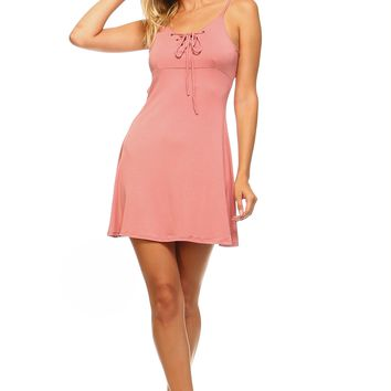 Front and Back Tie Skater Tank Dress