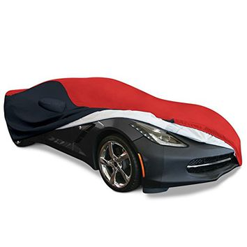 2014-2017 C7 Stingray, Z51, Z06, Grand Sport Corvette Stingray Ultraguard Plus Car Cover, Indoor/outdoor Protection (Red/black)
